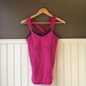 lululemon Pink Tank with Built in Bra Size…